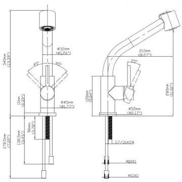 061.3102不鏽鋼廚房龍頭–抽拉式