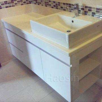TOTO-LW711RCB方盆訂製浴櫃-135cm