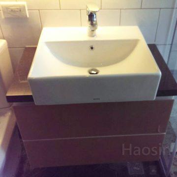 TOTO-L710CGU方盆訂製浴櫃(拼接)-80cm