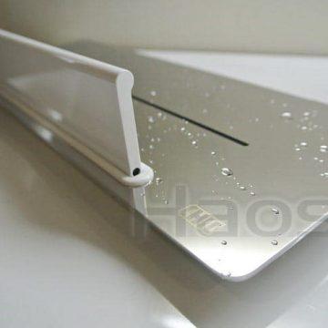 083.4511 不鏽鋼方型置物架,白色烤漆水刮刀擋板