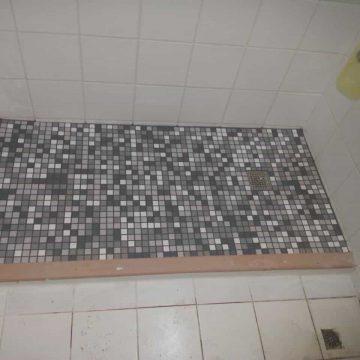 拆舊浴缸貼瓷磚(乾濕分離)