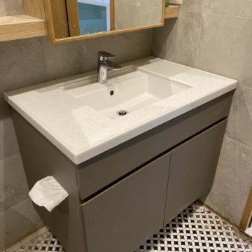 TOTO-LW586CGUR下嵌面盆訂製檯面浴櫃(皮革面)