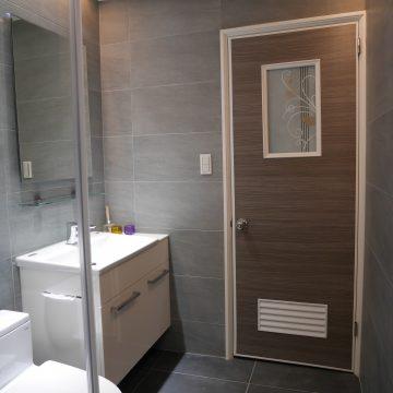 INAX面盆訂製 拼接檯面總寬85公分浴櫃