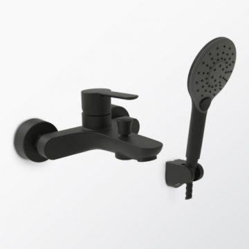 5381349黑色淋浴浴缸龍頭
