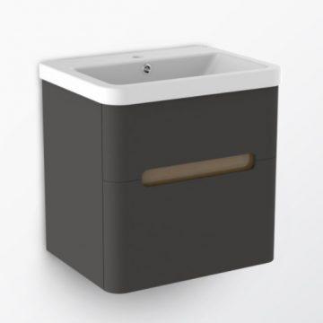 H11100WG3 臉盆浴櫃組 深灰色+雙抽屜 60cm