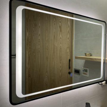 GK04 金色/黑色 拉絲鋁框掛鏡-86*56cm