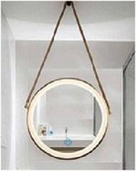 GK06 金/咖啡/黑/白 皮帶掛鏡 60cm