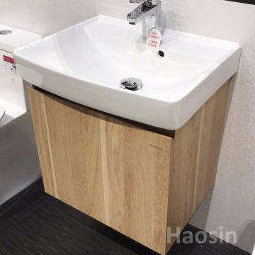 KARAT-740CH臉盆+木紋浴櫃組52CM 特價中