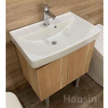 KARAT-741CH臉盆+木紋浴櫃組62cm  特價中