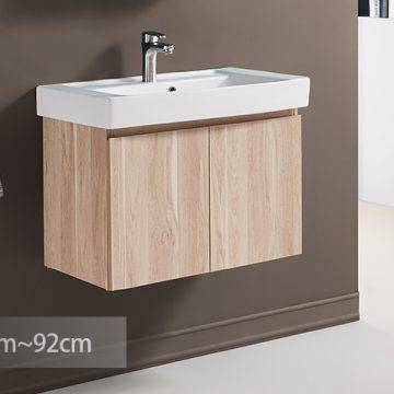 KARAT-743CH臉盆+木紋浴櫃組82cm 特價中