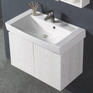 KARAT-747CH臉盆+木紋浴櫃組72cm 特價中