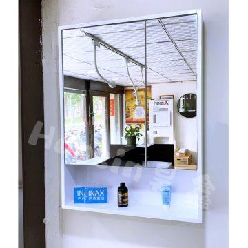 460C白框鏡櫃60*14*H80cm